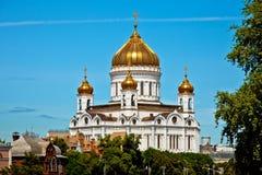 Cathédrale du Christ le sauveur à Moscou Images stock