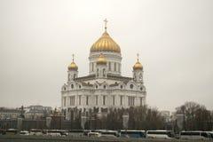 Cathédrale du Christ le sauveur à Moscou, Russie Photos libres de droits