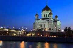 Cathédrale du Christ le sauveur à Moscou, Russie Photo stock