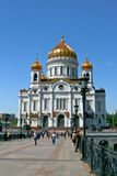 Cathédrale du Christ le sauveur à Moscou, Russie. Image stock