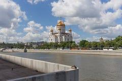 Cathédrale du Christ le sauveur à Moscou, Russie Images stock