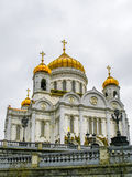 Cathédrale du Christ le sauveur à Moscou, Russie Photos stock