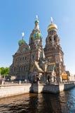 Cathédrale du Christ le sauveur à St Petersburg, Russie Images libres de droits