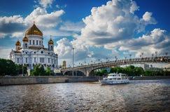 Cathédrale du Christ le sauveur La Russie, Moscou image stock