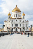 Cathédrale du Christ le sauveur, Moscou Photographie stock libre de droits
