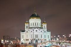 Cathédrale du Christ le sauveur, Moscou, Russie Photo stock