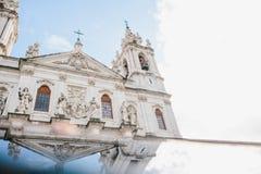 Cathédrale du DA Estrela de basilique dans Lissbon, Portugal Cathédrale catholique et christianisme occidental Vue architecturale image libre de droits