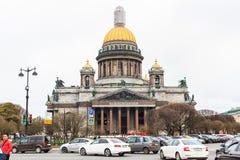Cathédrale du ` s d'Isaac de saint la plus grande cathédrale orthodoxe russe i Images stock