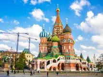 Cathédrale du ` s de Basil de saint dans la place rouge, Moscou Images libres de droits