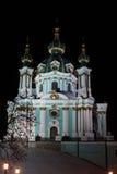 Cathédrale du ` s de St Andrew la nuit Photos stock