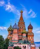 Cathédrale du ` s de St Basil à Moscou, Russie photographie stock libre de droits