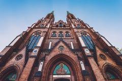 Cathédrale du ` s de St Florian à Varsovie Images libres de droits