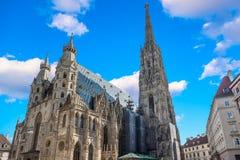Cathédrale du ` s de St Stephen à Vienne, Autriche dans un beau jour d'automne images stock