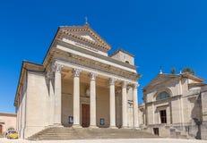 Cathédrale du Saint-Marin, république de San Marino Photos libres de droits