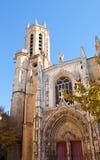 Cathédrale du sauveur de saint (1513). Aix-en-Provence, France Photos libres de droits