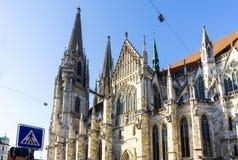 Cathédrale en Bavière Allemagne de Ratisbonne photo stock