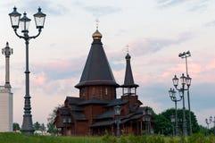 Cathédrale en bois à Minsk Belarus Photos stock