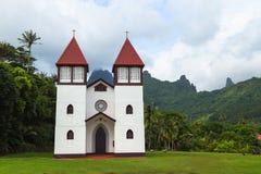 Cathédrale en français la Polynésie française Photographie stock libre de droits