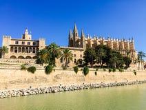 Cathédrale en Palma de Mallorca, Espagne Images libres de droits
