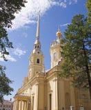 Cathédrale en Peter et Paul Fortress Photos stock