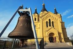 Cathédrale et Alexander Nevsky Cathedral de Bell dans Nijni-Novgorod Photos libres de droits