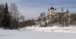Cathédrale et couvent dans Feofania (Kiev) Photographie stock libre de droits