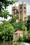 Cathédrale et déversoir de Durham Photos libres de droits