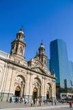 Cathédrale et personnes métropolitaines sur la plaza de Armas dans le c Photographie stock libre de droits