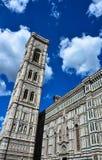 Cathédrale et tour de Florence Image libre de droits
