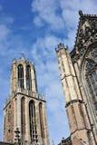 Cathédrale et tour gothiques Images libres de droits