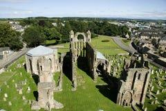 Cathédrale et ville d'Elgin Photographie stock