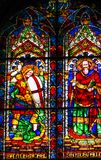 Cathédrale Florenc de Michael Paul Stained Glass Window Duomo de saints images libres de droits