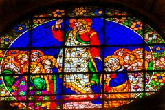 Cathédrale Florence Ital de Jesus Mary Disciples Stained Glass Duomo photos stock