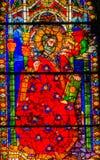 Cathédrale Florence Ital de Matthew Stained Glass Window Duomo de saint photographie stock libre de droits