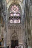 Cathédrale France 10 d'Amiens Images libres de droits