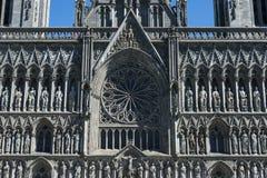 Cathédrale Front Trondheim occidental de Nidaros images stock