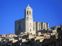 cathédrale girona Photos libres de droits