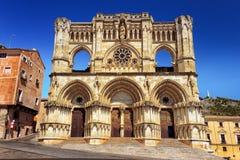 Cathédrale gothique à Cuenca Photos libres de droits