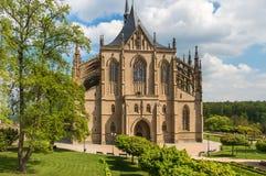 Cathédrale gothique, église de saint Barbara dans Kutna Hora photos stock
