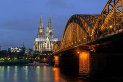 Cathédrale gothique de Cologne Photo libre de droits