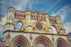 Cathédrale gothique de Cuenca en Espagne Photo libre de droits