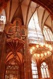 Cathédrale gothique de grès de notre Madame Image libre de droits