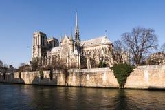 Cathédrale gothique de Notre Dame à Paris Photo stock
