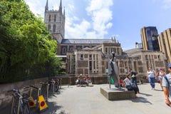 Cathédrale gothique du 12ème siècle de Southwark de style, Londres, Royaume-Uni Images stock