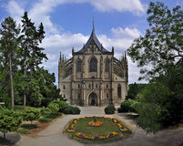Cathédrale gothique, Kutna Hora Photographie stock