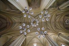 Cathédrale gothique L'architecture gothique est un style d'architecture qui s'est épanoui au cours de la haute et de la période m Photo libre de droits