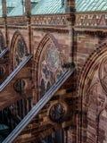 Cathédrale gothique médiévale Strasbourg Images libres de droits