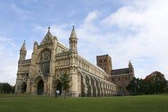 Cathédrale Hertfordshire Angleterre de rue albans Photo stock