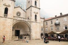 Cathédrale historique dans Kotor, Monténégro Photos libres de droits