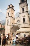 Cathédrale historique dans Kotor, Monténégro Image libre de droits
